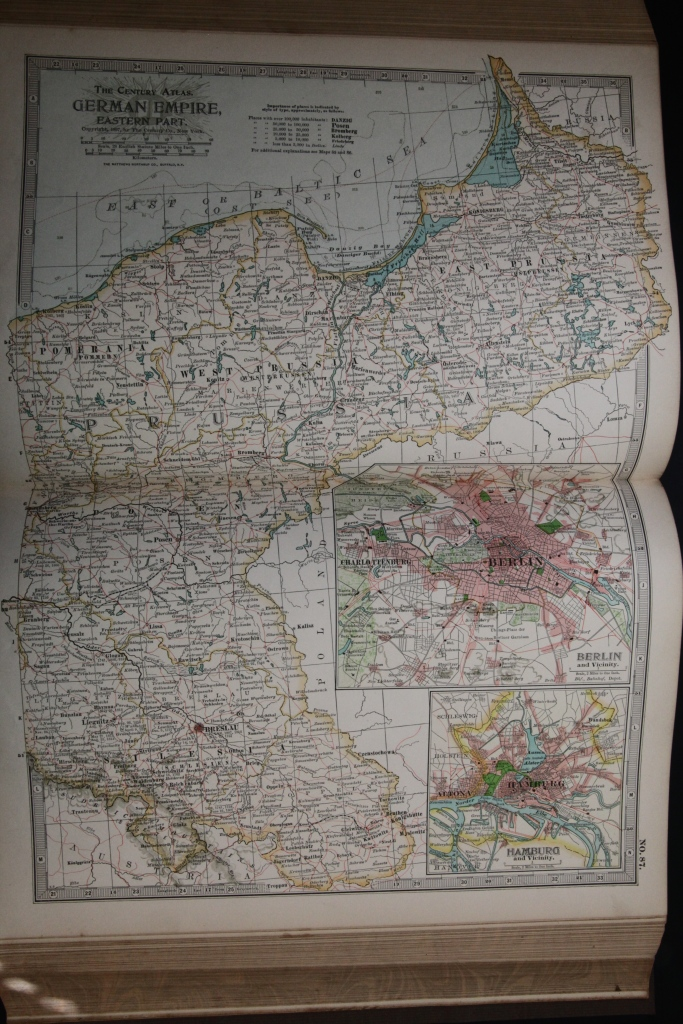Map of the German Empire, Eastern Part