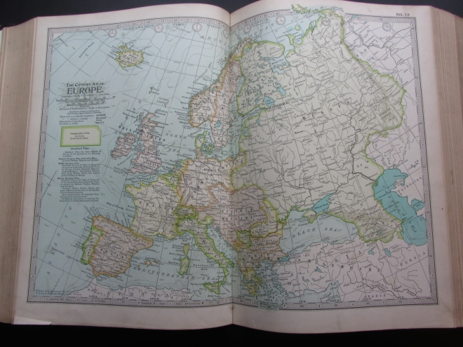 Map of Europe, 1897