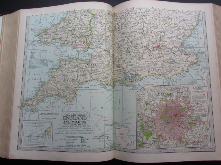 Map of England and Wales, South, 1897