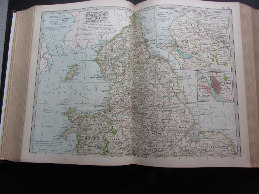 Map of England and Wales, North, 1897