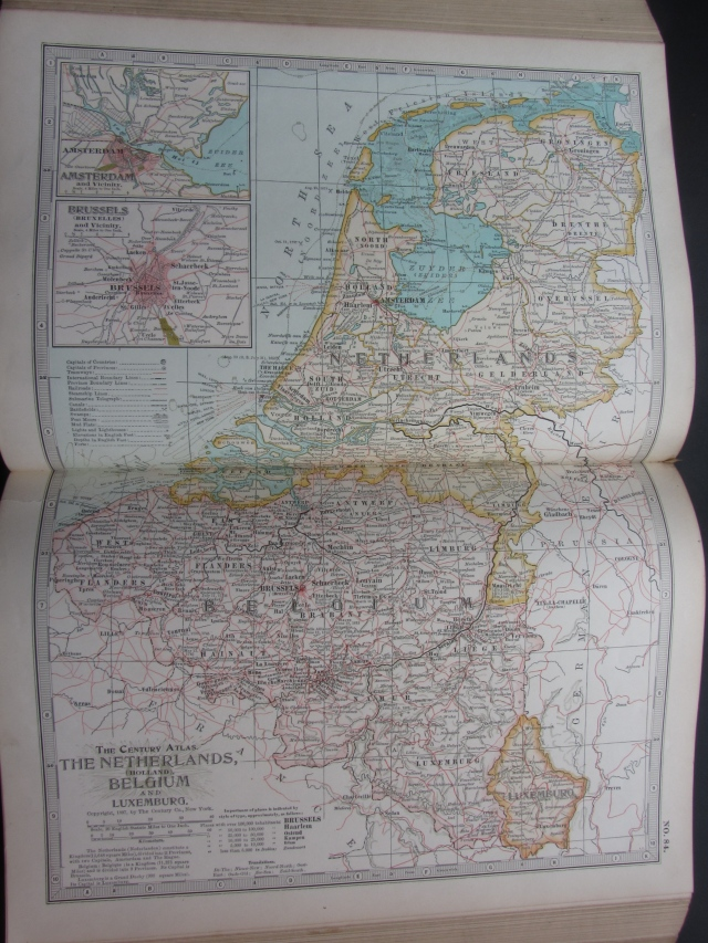 Map of the Netherlands, 1897