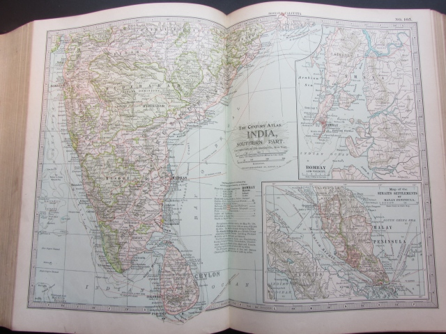 1897 Map of India (South)