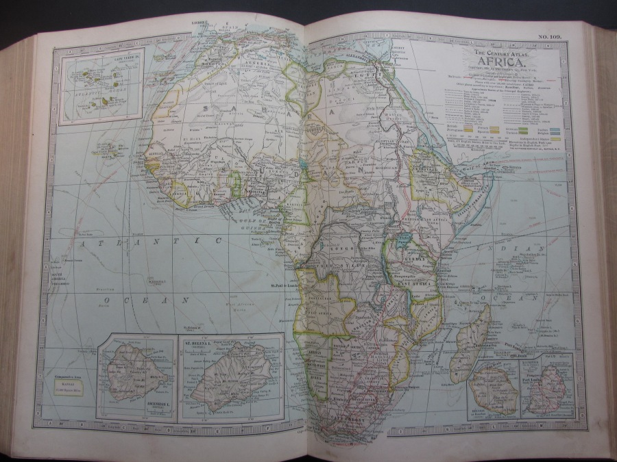 1897 Map of Africa