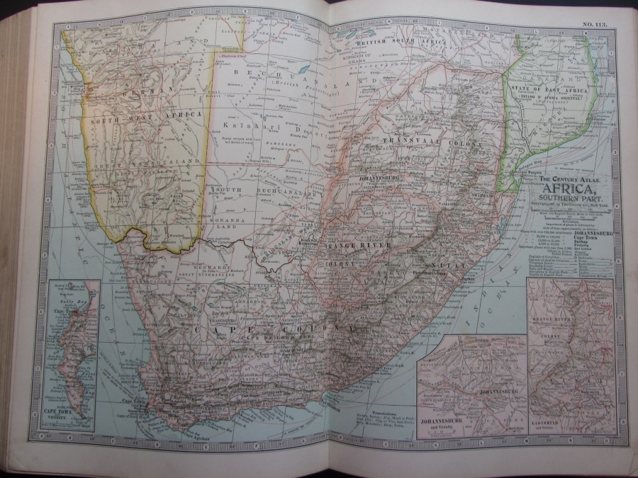 1897 Map of Africa (South)
