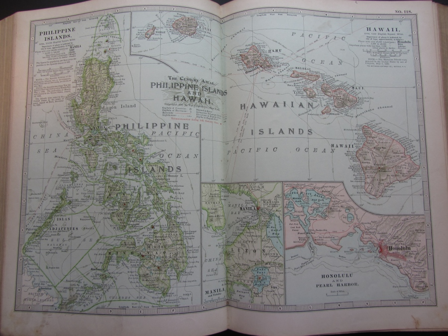 1897 Map of Hawaii and the Philippines