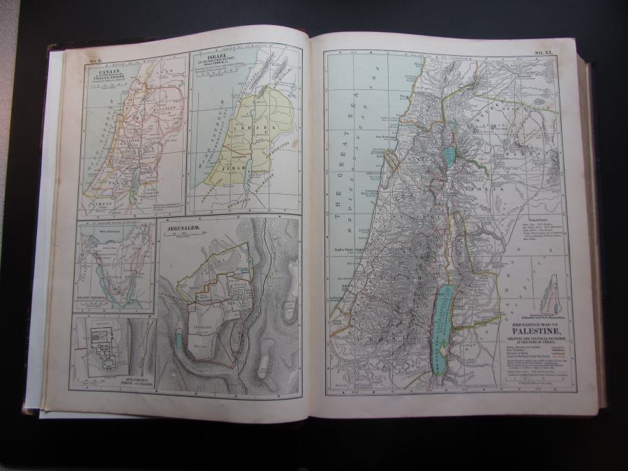 1897 map of Palestine at the Time of Christ