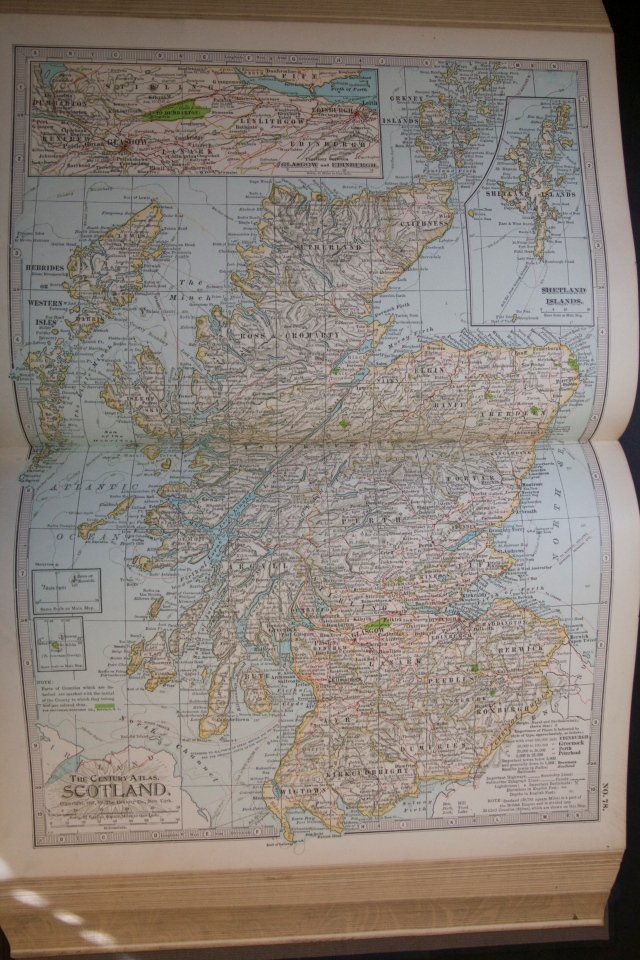 Map of Scotland, 1897
