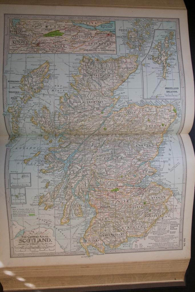 Map of Scotland, 1897