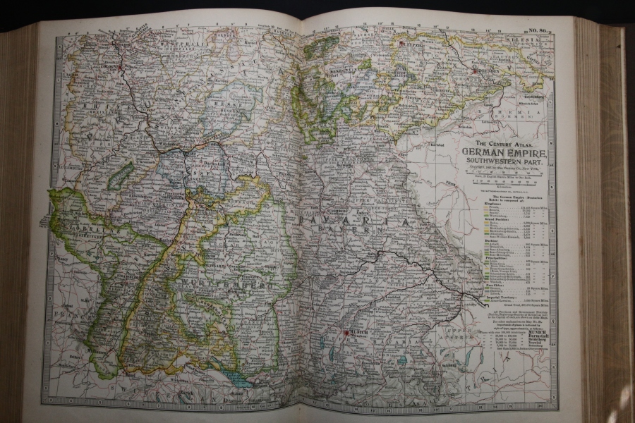 Map of the German Empire, Southwestern Part, 1897