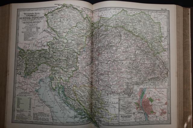 Map of Austria-Hungary, 1897