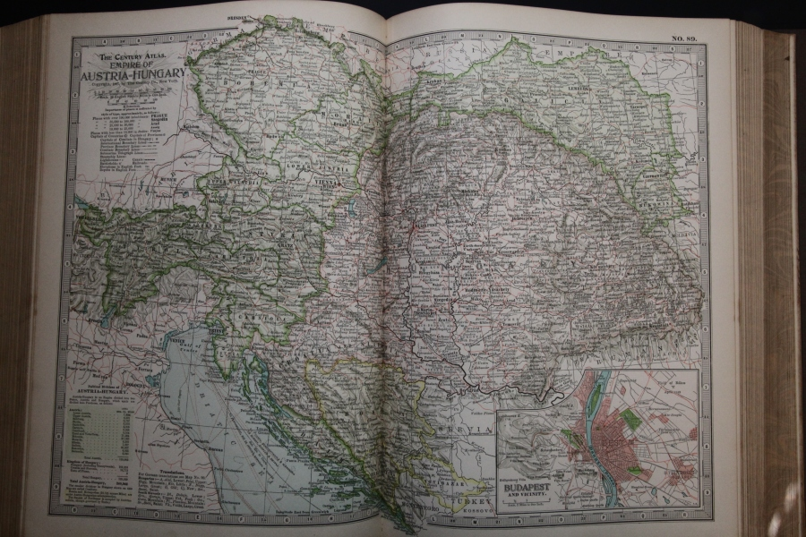 Map of Austria-Hungary, 1897