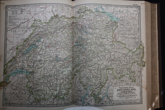 Map of Switzerland, 1897