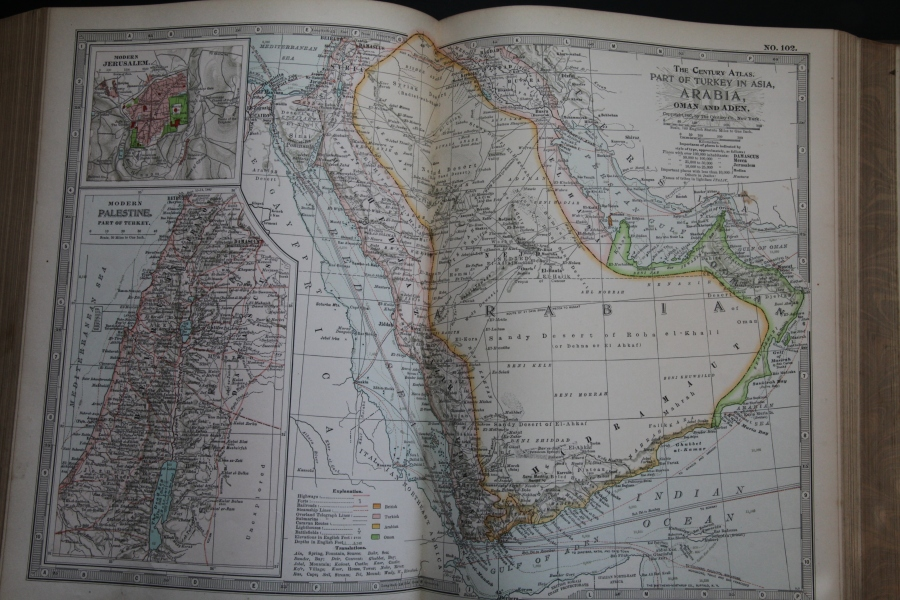 Map of Arabia, 1897