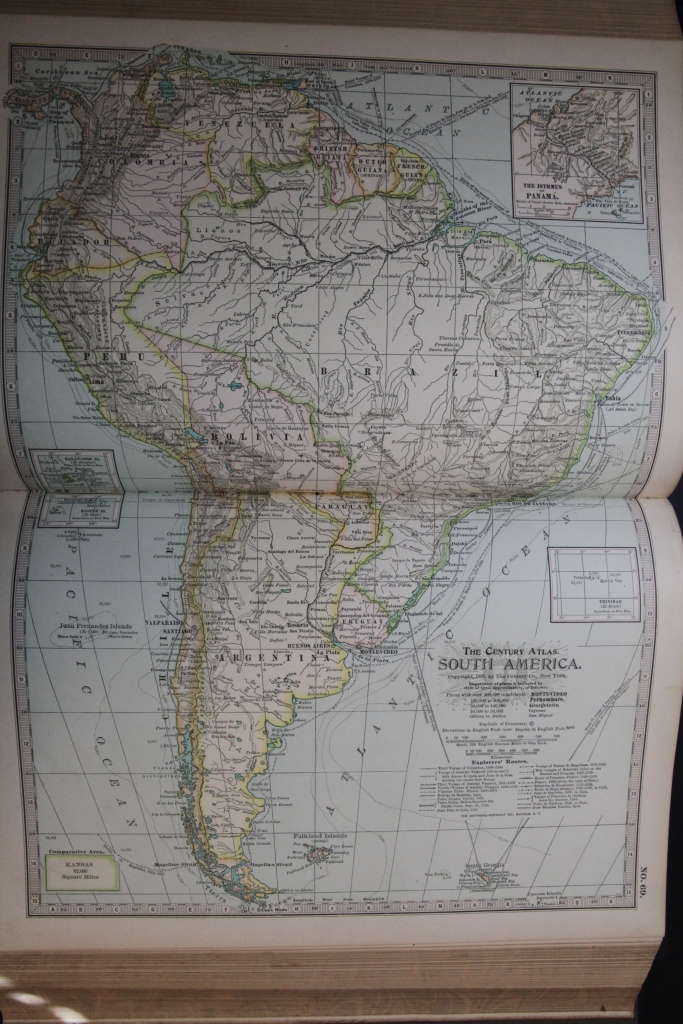 Map of South America, 1897