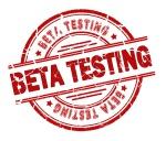 beta testing stamp isolated on white background